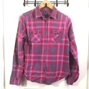 American Eagle Outfitters Medium Pink Flannel
